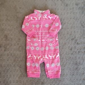 Girl's fleece onesie
